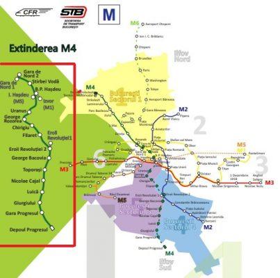 Magistrala de metrou M4 se extinde si in zona Giurgiului-Luică-Progresul